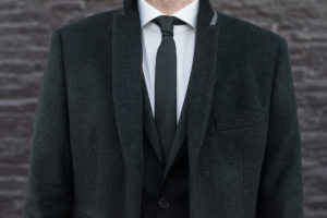 A black tie look for a formal Christmas party.