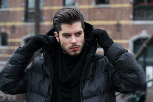 Quilted jacket for men. Outfit inspiration for this winter.